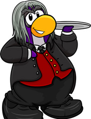 Club Penguin Halloween Party - Butler Costume