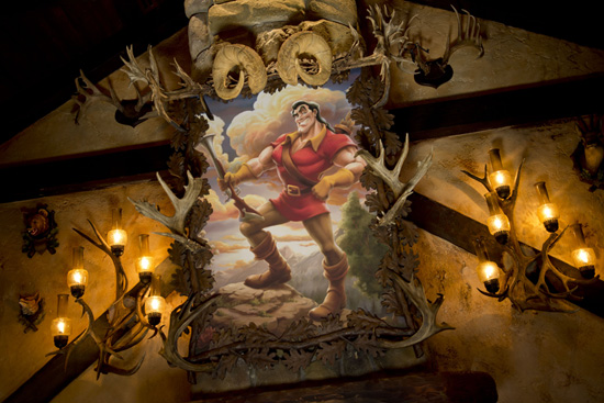 Outside Gaston's Tavern in New Fantasyland at Magic Kingdom Park