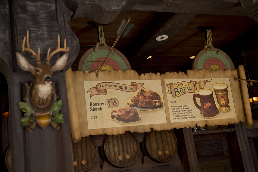 Inside Gastons Tavern in New Fantasyland at Magic Kingdom Park