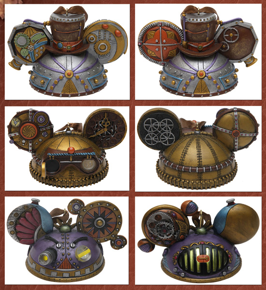 The Mechanical Kingdom Inspires New Merchandise at Disney Parks, Including Steampunk Ear Hat Ornaments