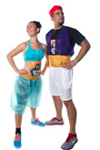 A Whole New World: Jasmine and Aladdin Were Two of 10,000 Runners That Participated in the Inaugural Twilight Zone Tower of Terror 10-Miler.