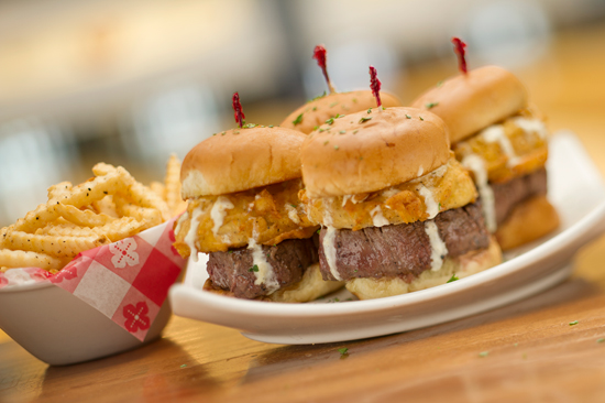 Appetizer-sized Filet Sliders Available at Splitsville Luxury Lanes at Downtown Disney West Side