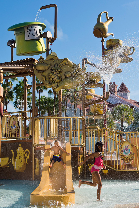 New 'Alice In Wonderland'-Themed Kids' Water Play Area Opens at Disney's Grand Floridian Resort & Spa