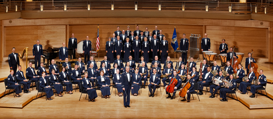 United States Air Force Concert Band and Singing Sergeants Perform at Disneyland Resort October 18
