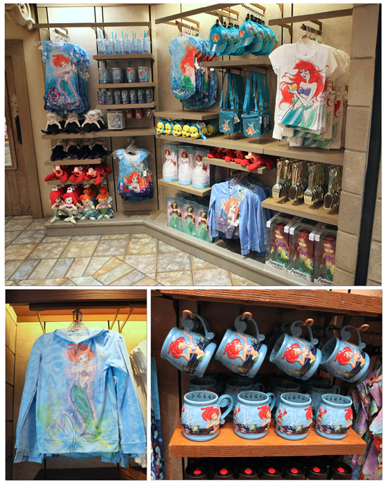 New Merchandise Goes Under the Sea For New Fantasyland at Magic Kingdom Park