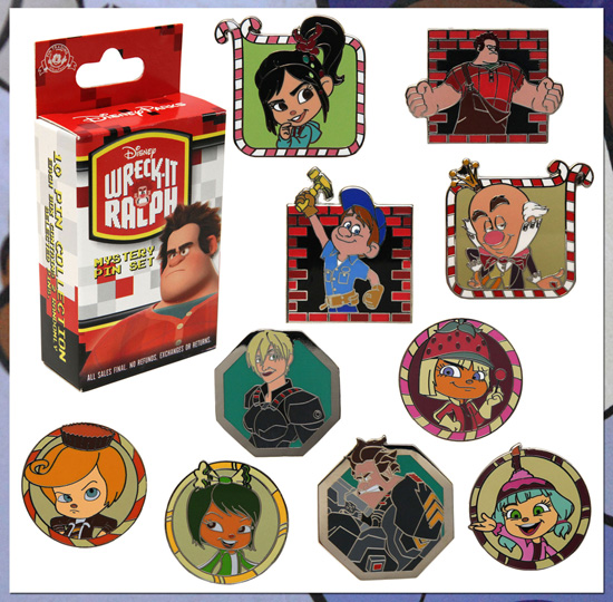 'Wreck-It Ralph' Pins at Disney Parks