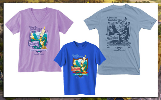 Shirts Commemorating the Grand Opening of New Fantasyland at Magic Kingdom Park on December 6