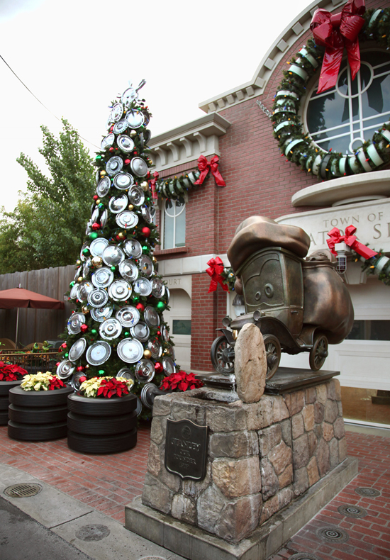 Cars Land Gets Gussied Up for the Holidays at Disney California Adventure Park