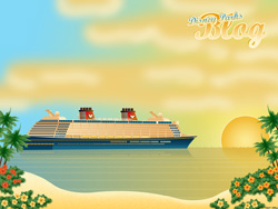 Desktop Wallpaper Featuring Disney Cruise Line's Disney Fantasy