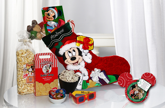 Mickey's Stocking of Surprises Available from Disney Floral &#038; Gifts