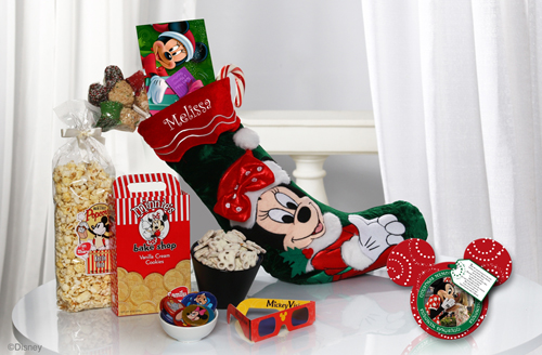 Minnie's Stocking of Surprises Available from Disney Floral &#038; Gifts