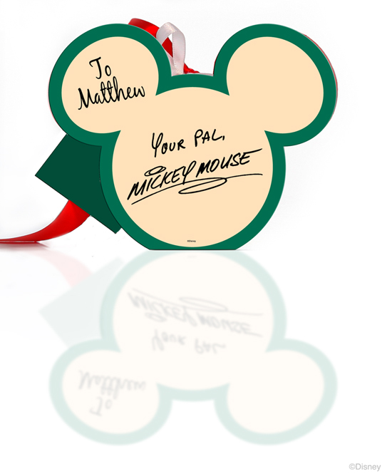 Back of Mickey Mouse Picture Frame Ornament Available from Disney Floral &#038; Gifts