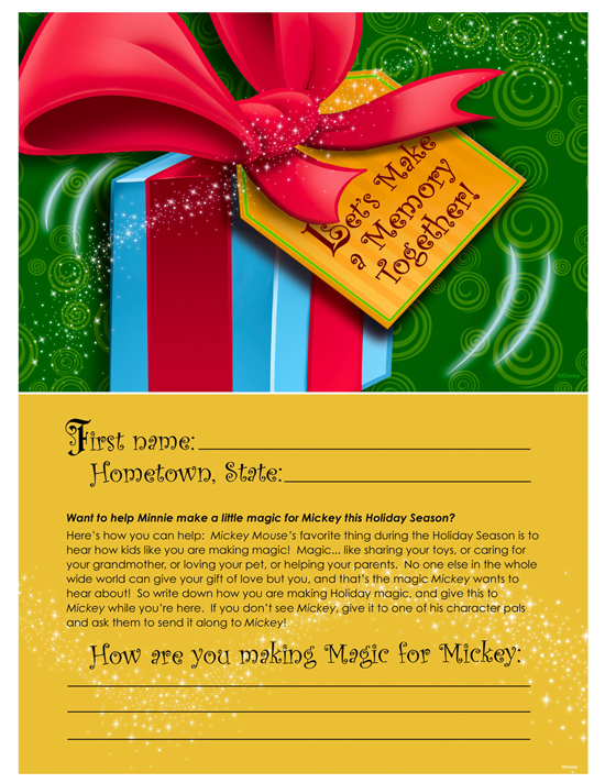 Give Back with Kindness This Holiday Season with Special Cards Included in Mickey and Minnie's Stockings of Surprises Available from Disney Floral & Gifts