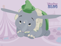 Dumbo the Flying Elephant Desktop Wallpaper
