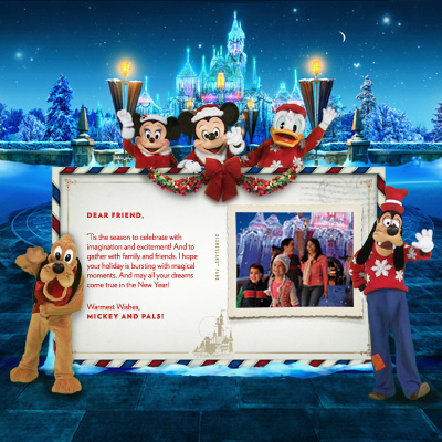 Send a Special Holiday Greeting from the Disneyland Resort