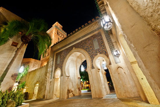 Disney Parks After Dark: Morocco Pavilion at Epcot