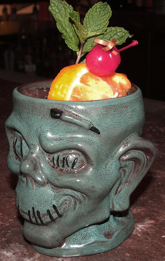 Shrunken Zombie Head Mug from Trader Sam's Enchanted Tiki Bar at the Disneyland Hotel