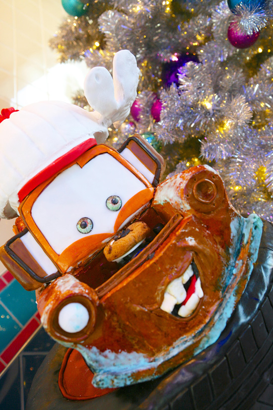 Gingerbread Mater in Flos V-8 Caf at Disney California Adventure Park