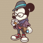 'Hipster Mickey' by Jerrod Maruyama, Available on Select Items at the Disneyland Resort