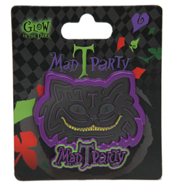 New Glow-in-the-Dark Cheshire Cat Pin at Mad T Party in Disney California Adventure Park