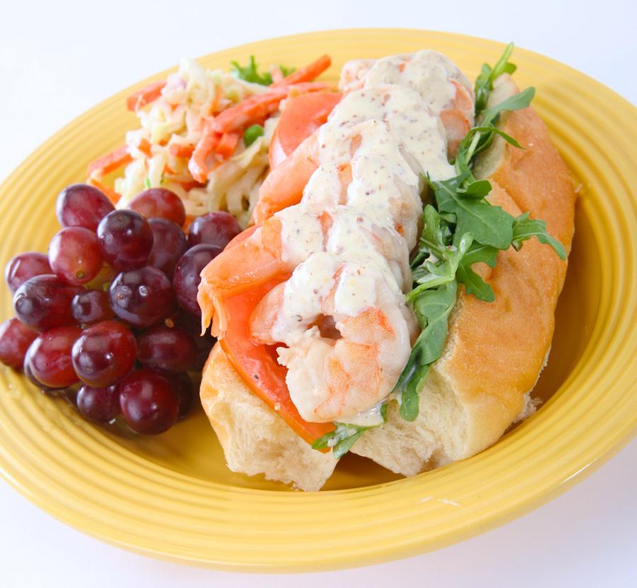 Shrimp Po'boy Sandwiches at French Market Restaurant in Disneyland ...