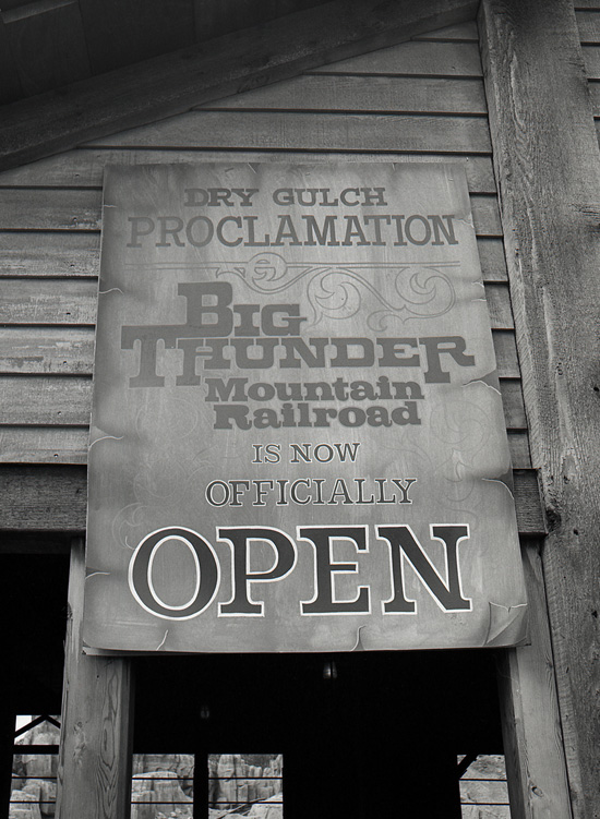 Big Thunder Mountain Railroad at Magic Kingdom Park in 1980