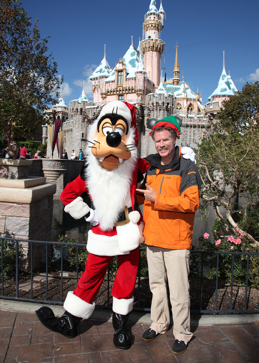 Will Ferrell Visits Santa Goofy At Disneyland Park