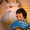 Legendary actress and comedienne Jo Anne Worley, who provided the voice of the fashion-minded 'Wardrobe' character in Disney's animated classic 'Beauty and the Beast,' poses December 6, 2012 in front of an interactive, talking version of her character at the Magic Kingdom theme park in Lake Buena Vista, Fla