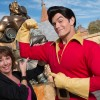 Broadway and recording star Paige O'Hara poses December 5, 2012 with Disney's 'Beauty and the Beast' character Gaston in New Fantasyland at the Magic Kingdom park at Walt Disney World in Lake Buena Vista, Fla.