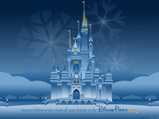 Download Our Disney Parks Happy Holidays Wallpaper