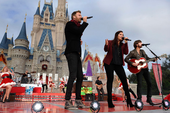 Lady Antebellum Performs at the Disney Parks Christmas Day Parade Taping at Walt Disney World Resort