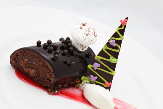 Disney Cruise Line Double Chocolate Yule Log