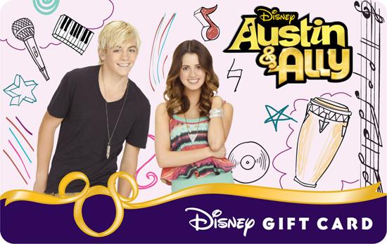 'Austin & Ally' Disney Gift Card