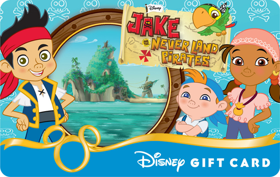 'Jake and the Neverland Pirates' Disney Gift Card