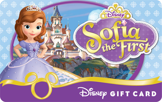 'Sofia the First' Disney Gift Card