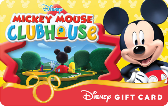 'Mickey Mouse Clubhouse' Disney Gift Card