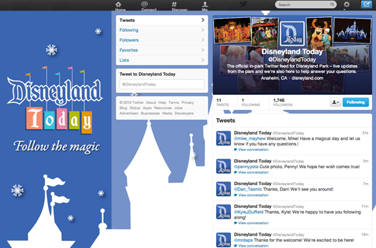 @DisneylandToday Offers Live In-Park Updates on Twitter
