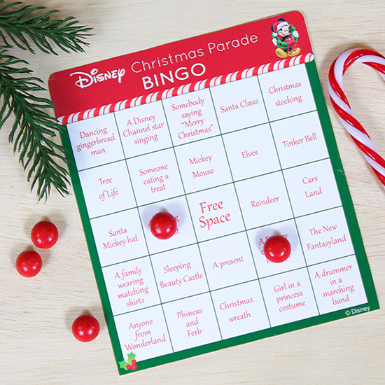 Play Disney Parks Christmas Day Parade Bingo with Kit from Spoonful.com
