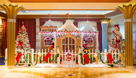 Gingerbread Houses Come to Life on Disney Cruise Line Ships