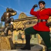 In Front of Gaston's Tavern in New Fantasyland at Magic Kingdom Park