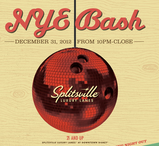 Celebrate New Year's Eve at Splitsville Luxury Lanes in Downtown Disney at Walt Disney World Resort