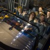 Members of OneRepublic – (L-R, front) Ryan Tedder, Drew Brown, Eddie Fisher, (L-R, back) Brent Kutzle and Zach Filkins – prepare to take a ride on Test Track Presented by Chevrolet