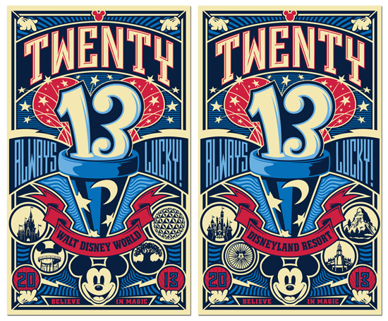 New Posters from Disney Design Group Highlight the Luckier Side of 2013