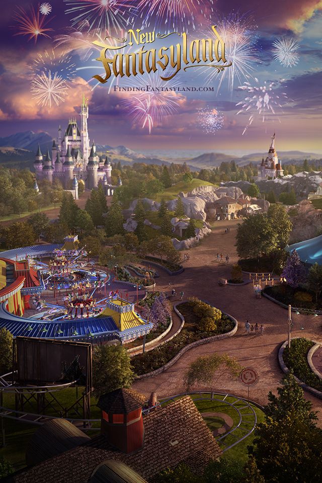 Finding Fantasyland at Magic Kingdom Park iPhone/Android Wallpaper