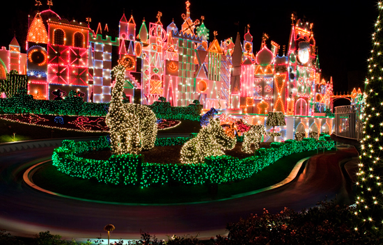 its a small world Holiday at Disneyland Resort