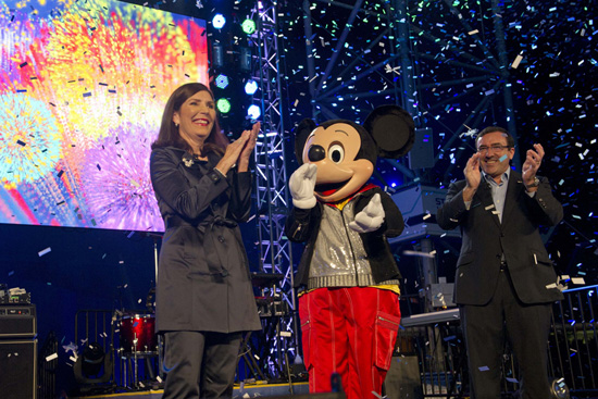 Walt Disney World Resort's Meg Crofton and GM's Alan Batey Led an Accelebration! During the Grand Opening of Test Track Presented by Chevrolet