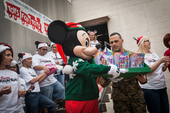 Walt Disney World Resort Cast Members Show the True Meaning of the Holiday Season by Donating Toys to the Toys for Tots Program