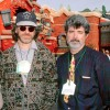 Steven Spielberg and George Lucas attend the Grand Opening Celebration of Mickey&#8217;s Toontown at Disneyland park in January 1993