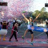 Adriano Bastos Crossing the Finish Line of the Walt Disney World Marathon