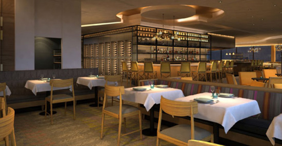 California Grill bar and seating
